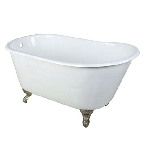 small clawfoot bathtub 53 quot small cast iron white slipper clawfoot bathtub with