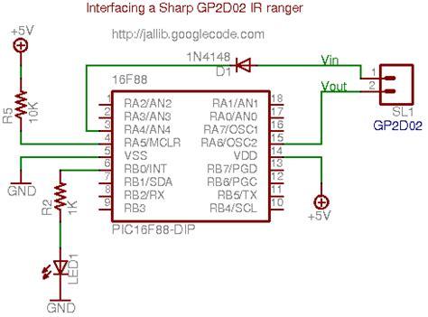 ir diode range ir ranger with sharp gp2d02 just another jal website