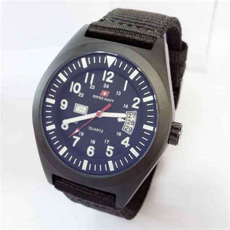 jual jam tangan swiss navy original tali kanvas