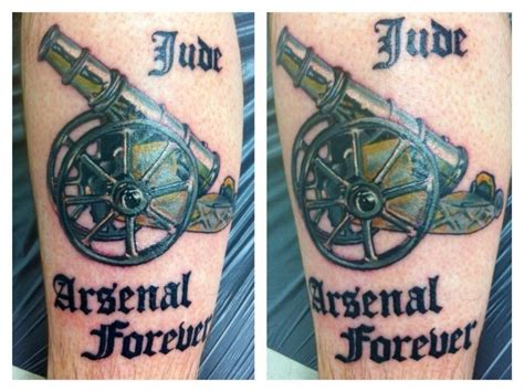 crossed cannons tattoo hd cross cannon design idea