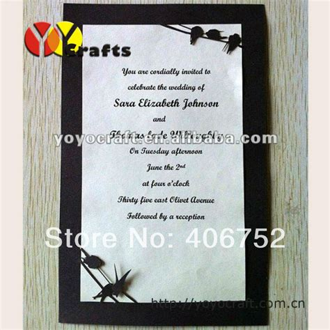 Design Invitation Card Unveiling | simple birds design single page black tombstone unveiling