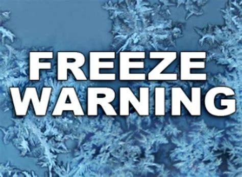 freeze warning issued for southwest georgia and se alabama