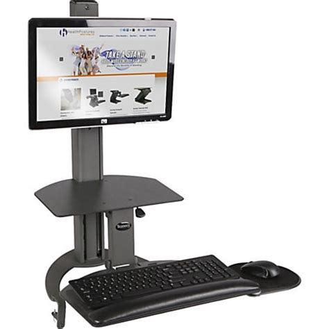office max standing desk healthpostures taskmate desktop computer standing desk by