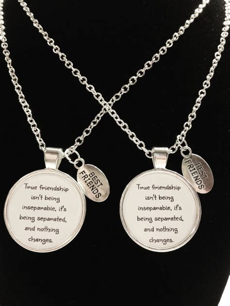 best friend gift best friend necklace true friendship