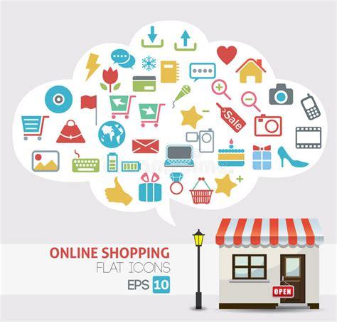 convertir imagenes a vectores online vector en l 237 nea de las compras iconos de la tienda en