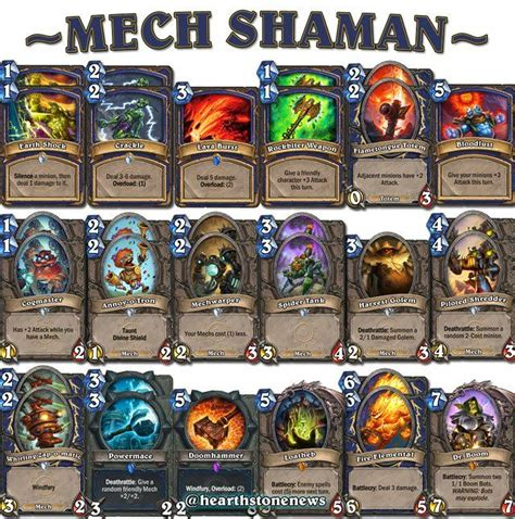 shaman deck builds 1000 images about hearthstone on
