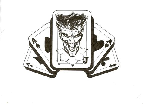 joker tattoo design in inks by lrwaters on deviantart