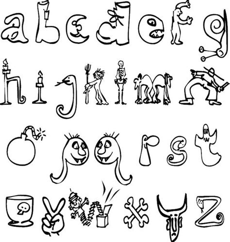 halloween alphabet coloring pages coloring alphabet and halloween on pinterest