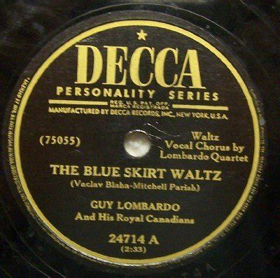 the blue skirt waltz 78 rpm on decca 10 quot record