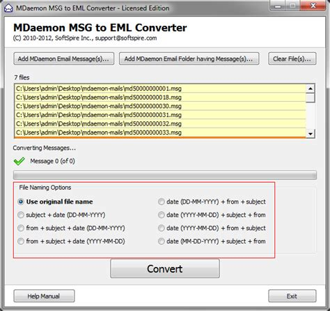 email format eml working guide of mdaemon msg to eml converter