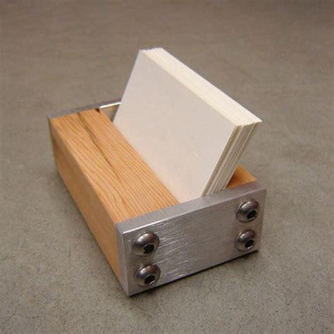 Wooden Business Card Holder For Desk Card Design Ideas