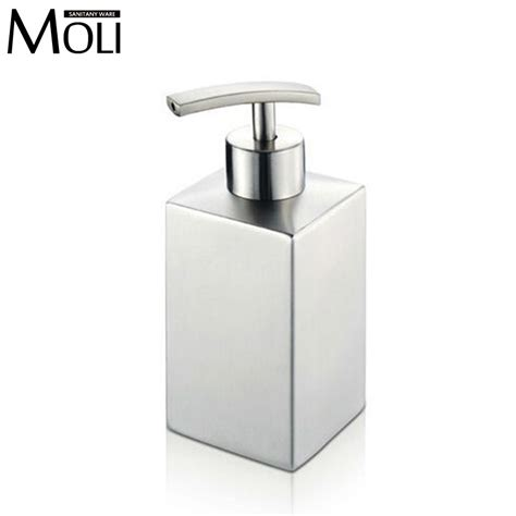 soap dispensers for kitchen sinks 304 stainless steel soap dispenser for bathroom