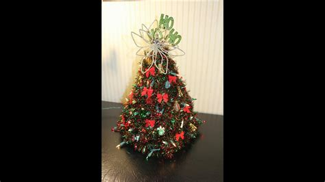 how to make a wire hanger christmas tree how to make a hanger tree updated version