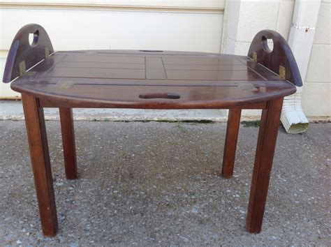 table with fold sides oval coffee table with folding sides in blackjack s yard