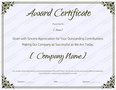 free sale certificate template 89 award certificates for business and school events