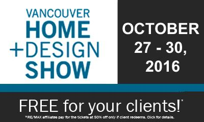 home and design show vancouver 2016 vancouver home design show tickets for your clients re max of western canada region update