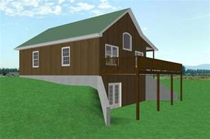 walkout basement small country cabin house plan cabin with walkout