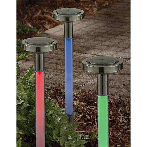 3 Multi Color Solar Lights 161357 Solar Outdoor Multi Color Solar Lights