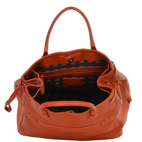 Handmade Leather Purses Uk - italian leather handbag pumpkin gold 40925 79 5b nh