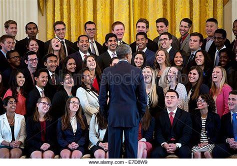 statistical programs 2014 the white house president obama white house interns stock photos