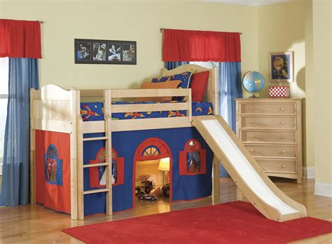 kids loft bed with slide working projcet buy bunk bed plans full size