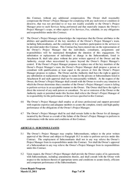 project management agreement template 28 project management agreement template 32 sle