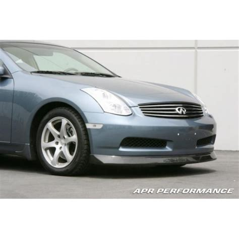 infiniti g35 front lip apr performance front lip infiniti g35 coupe fa 355006
