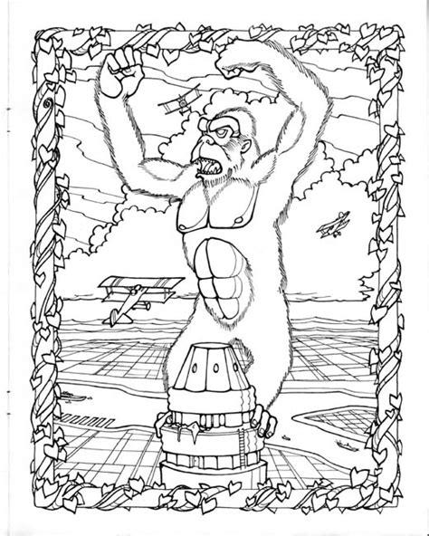 king kong coloring pages printable king kong coloring page by mark savee king kong