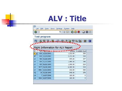 zebra layout in alv abap advanced list