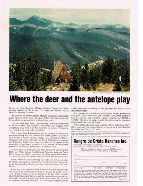 Where The Deer And The Antelope Play