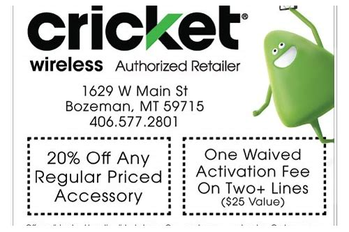 cricket store online coupons
