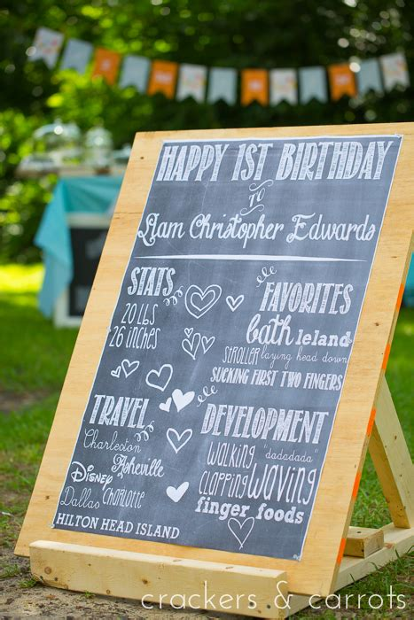 diy chalkboard sign birthday chalkboard birthday poster diy crackers carrots