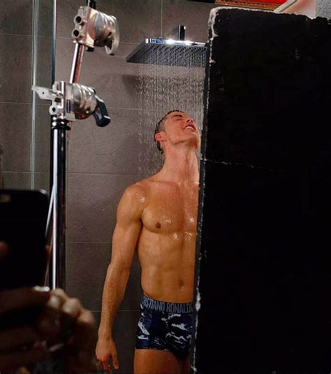 Steamy In The Shower by Cristiano Ronaldo Aims To The With Steamy