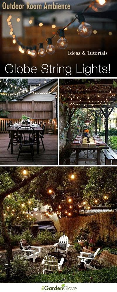 Outdoor Patio String Lights Globe Outdoor Room Ambience Globe String Lights Tips Ideas And Tutorials Outdoor Decor