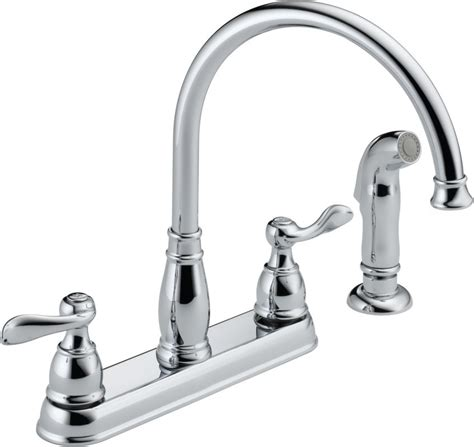 delta kitchen faucets warranty delta 21996lf chrome windemere kitchen faucet with side