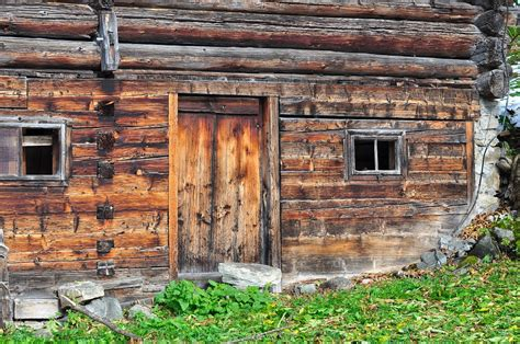 free photo log cabin vacation wood brown free image