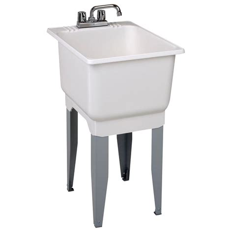 home depot laundry sink mustee 18 in x 23 5 in plastic laundry tub 12c the