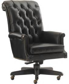 Leather Office Desk Chair Breckenridge Cascade Desk Chair In Rich Black Leather Front Traditional Office Chairs