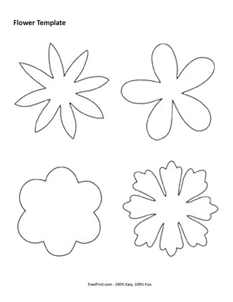 felt flower template diy and crafts pinterest