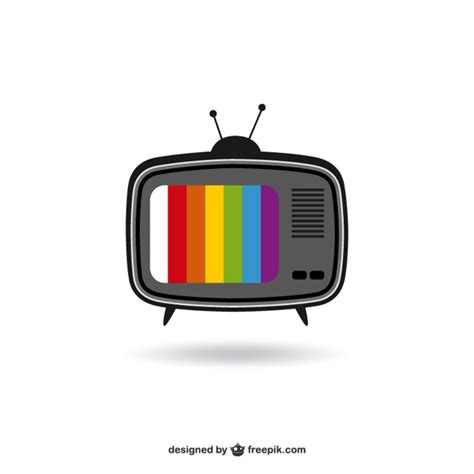 color tv year color tv vector free