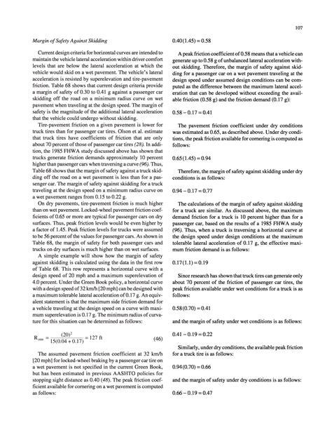 design criteria summary worksheet chapter 6 highway geometric design criteria and their