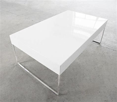 white rectangle coffee table rectangular lacquer white metal coffee table