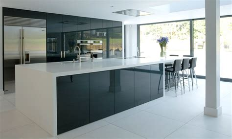 Replacement Kitchen Cabinet Doors Uk by Using High Gloss Tiles For Kitchen Is Good Interior