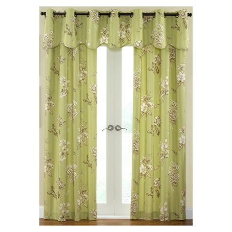 waverly curtains at lowes shop waverly 84 quot l juniper curtain panel at lowes com
