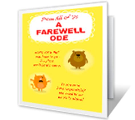 free printable greeting cards goodbye a farewell ode greeting card good luck printable card