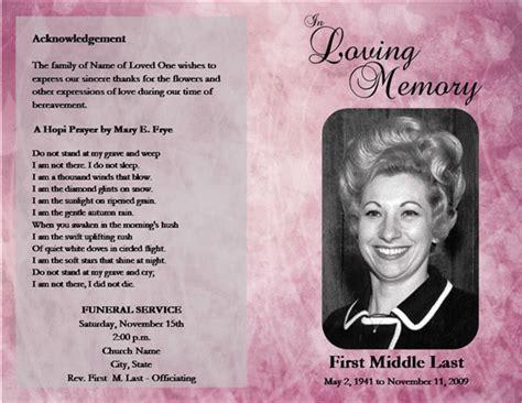 funeral program service template
