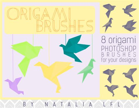 Origami For The Resources Of by Lfl Resources Origami Ps Brushes By Natalialfl On Deviantart