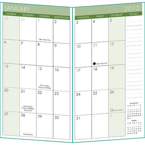 printable pocket organizer 6 best images of free printable 2013 pocket calendar