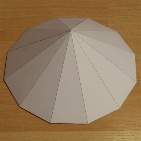 Paper Pyramid Craft - paper model dodecagonal pyramid how to paper crafts