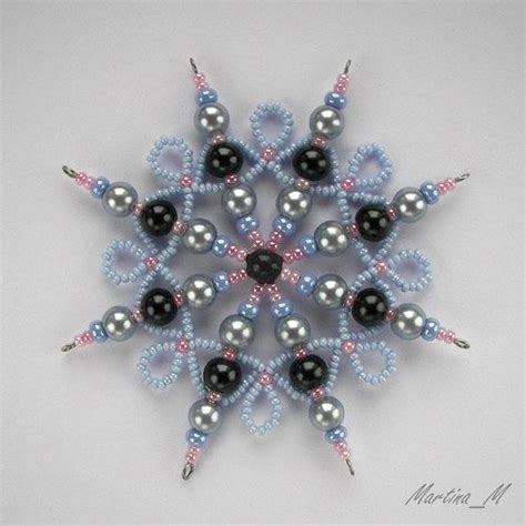 beaded snowflake ornaments 278 best beading ornaments images on